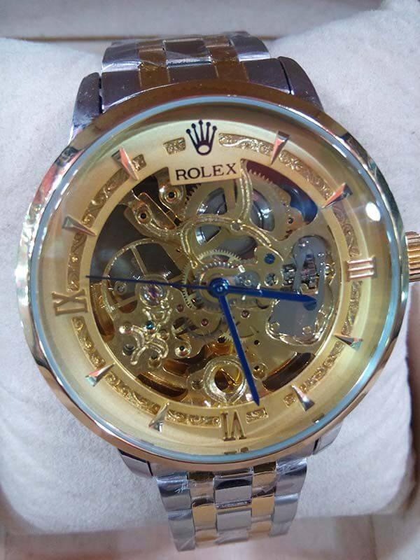 Buy Golden Rolex Automatic Watch For Men Online In